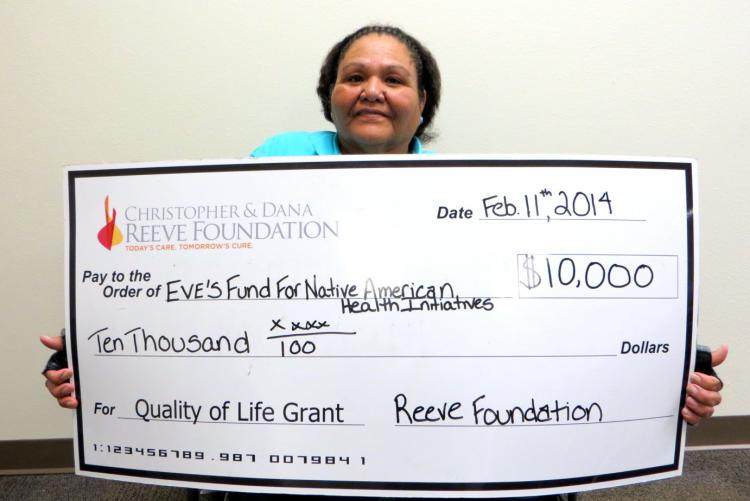 Quality of Life Grant 2014 Check Presentation